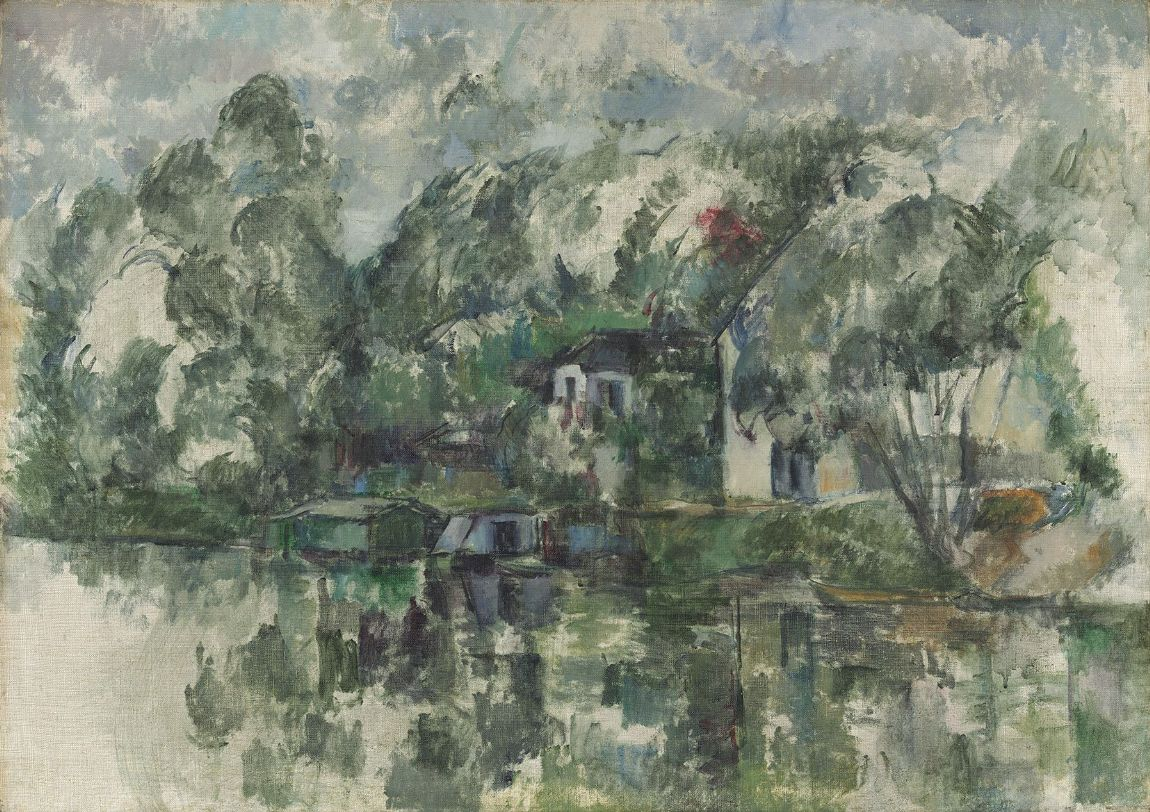 Cezanne, Paul: At the Water's Edge. Fine Art Print/Poster. Sizes: A4/A3/A2/A1 (003566)